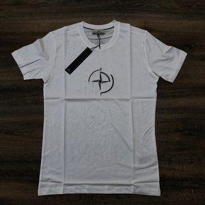 Stone Island Men Chest Embroidery White T-Shirt M